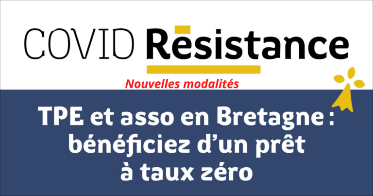 Nouvelles modalités d'accès au fonds Covid-résistance